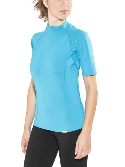 NRS HydroSkin 0.5 Short Sleeve Shirt Women Azure Blue